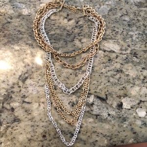 Chico's silver and gold necklace
